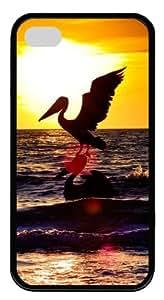 iphone 4 case fashion Sea Stork TPU Black for Apple iPhone 4/4S