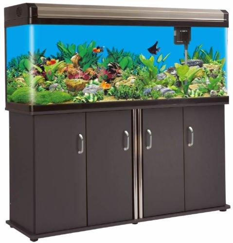 133 Gallon Fish Tank Reef Aquarium Glass w/ LED Lighting System | Fresh or Salt Water (Sd Tank Supply)