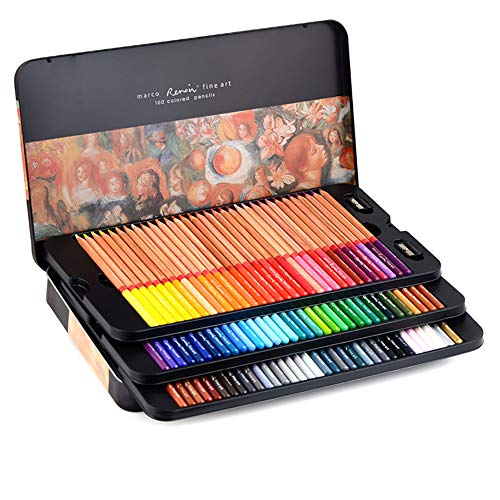 Professional Colored Pencils, Oil-Based, Water-Soluble, Fine Art Painting, Professional Hand-Painted (100 Color, Oily 100 Color)