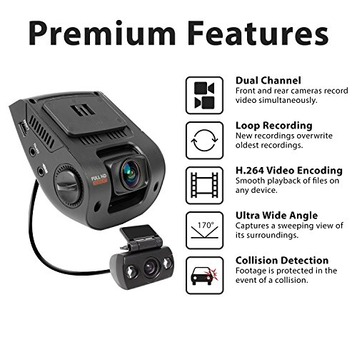 Rexing V1p 2 4 Quot Lcd Fhd 1080p 170 Degree Wide Angle Dual