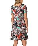 KORSIS Women's Summer Floral Dresses T Shirt Dress
