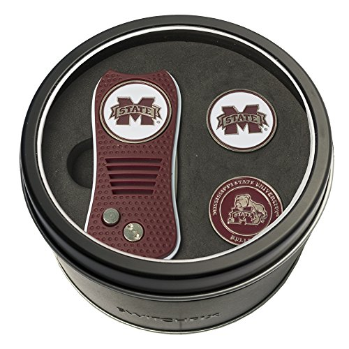 - Team Golf NCAA Mississippi State Bulldogs Gift Set Switchblade Divot Tool with 3 Double-Sided Magnetic Ball Markers, Patented Single Prong Design, Causes Less Damage to Greens, Switchblade Mechanism