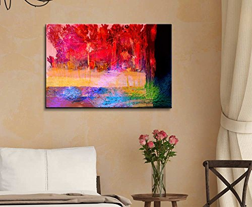 Abstract Color in Watercolor Painting Style Wall Decor