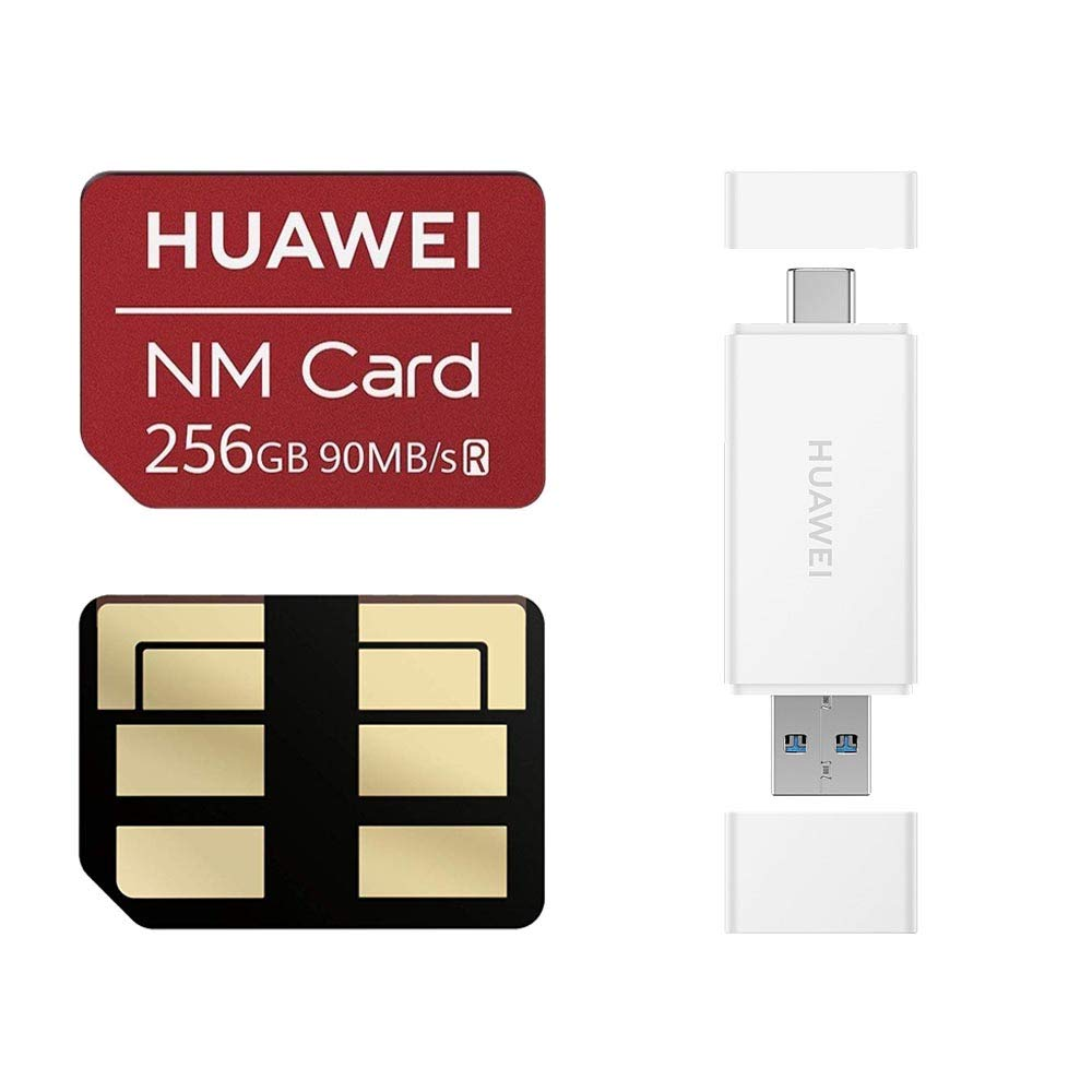 Huawei NM Card 64G 128G 256G 90MB/S Nano Memory Card Mirco SD Card Compact Flash Card, only Suitable for Huawei P30 Series and Mate20 Series, 256G (2 in 1 Reader) by HUAWEI (Image #1)