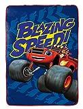Nickelodeon Blaze Fast Track Plush Blanket