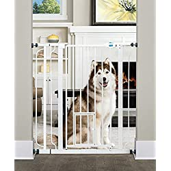 Carlson 0941PW Extra-Tall - Puerta para mascotas, Blanco