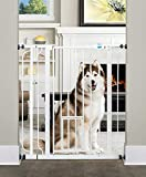 Image of Carlson Extra Tall Walk Through Pet Gate with Small Pet Door, Includes 4-Inch Extension Kit, 4 Pack Pressure Mount Kit and 4 Pack Wall Mount Kit