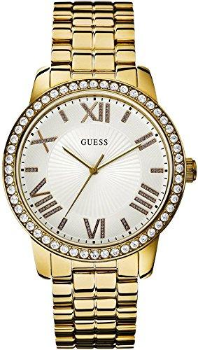 Guess - Reloj con correa de metal para mujer, color dorado: Amazon.es: Relojes