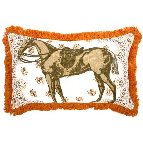 Thomas Paul Orange Pillow (Pillow Decor - Thomas Paul Horse 12x20 Throw Pillow)