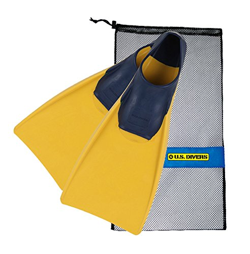 U.S. Divers Sea Lion Floating Fins,Yellow/Blue (With Bag),Medium Large 8-10 ()