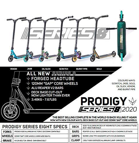 Blunt Prodigy S8 Stunt Scooter Bruciato Pipe