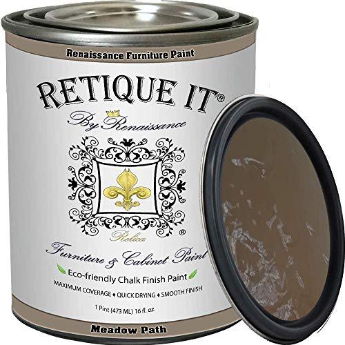 Retique It Chalk Furniture Paint by Renaissance DIY, 16 oz (Pint), 13 Meadow Path