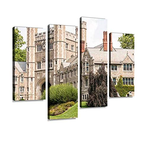 Princeton University Blair Hall Area Canvas Wall Art Hanging Paintings Modern Artwork Abstract Picture Prints Home Decoration Gift Unique Designed Framed 4 Panel (Blair Canvas Painting)