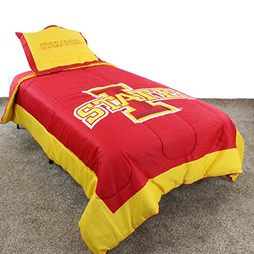 (College Covers Iowa State Cyclones Reversible Comforter Set, Twin )