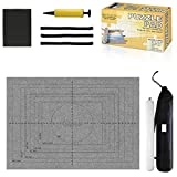 Jigsaw Puzzle Mat Roll Up - Saver Large Puzzles Board for Adults Kids 300 500 1000 1500 2000 Pieces, Storage and Transport Premium Pump Puzzle Glue Puzzles Felt Mat Inflatable Tube
