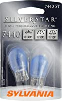 Sylvania 7440 ST SilverStar High Performance Halogen Miniature Lamp, (Pack of 2)