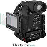 Canon EOS C100 Mark II Screen Protector, BoxWave [ClearTouch Glass] 9H Tempered Glass Screen Protection for Canon EOS C100 Mark II