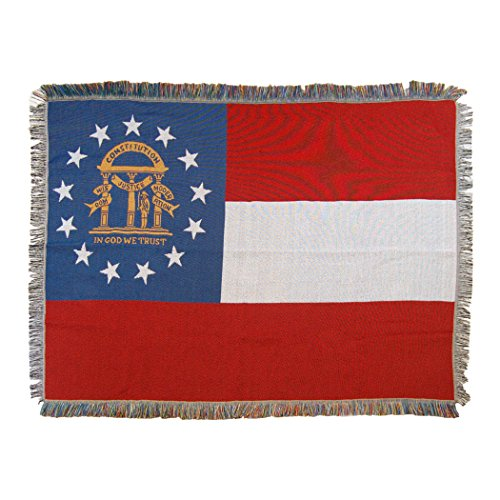 - The Northwest Company Georgia State Flag Woven Tapestry Throw Blanket, 48