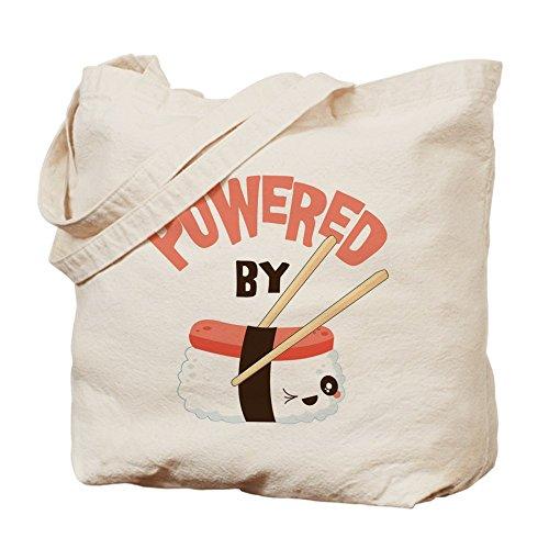 CafePress–Powered by–paño de Sushi–lona bolso, bolsa de la compra