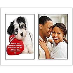 "Gift for Valentine's Day ""I Love You More"" Poem in Mat Board - Add Your Photo & Frame"
