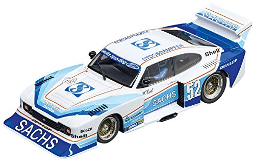- Carrera USA 20030831 Ford Capri Zakspeed Turbo Sachs Sporting No. 52 1:32 Scale Digital 132 Slot Car Racing Vehicle, Blue/White