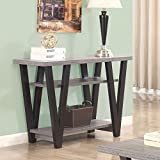 Cheap Coaster 705399-CO 2 Shelf Console Table, Antique Grey/Black