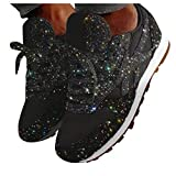 Kuhxz Women's Fashion Casual Breathable Crystal