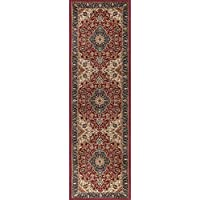 Universal Rugs Kirsten Traditional Oriental Red Runner Rug, 2 x 7