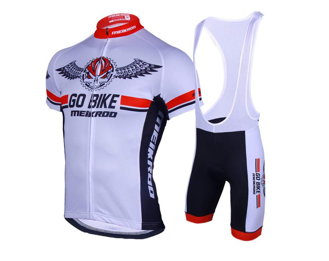 DUBAOBAO Outdoor-Sport Fahrradgurte Schweißableitend Atmungsaktiv Schlankes Radshirt Sommer Herren + UV-Schutz (Weiß)