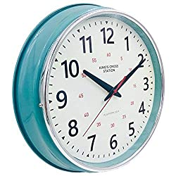 YAVIS Countryside Style Metal Wall Clock, Retro/Vintage Wall Clock, Non Ticking,Silent 12.4 Inch
