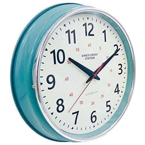 YAVIS Countryside Style Metal Wall Clock, Retro/Vintage Wall Clock, Non Ticking Silent, Easy to Read for Living Room/Kitchen/Bedroom/Office 12.4'' Inch by YAVIS