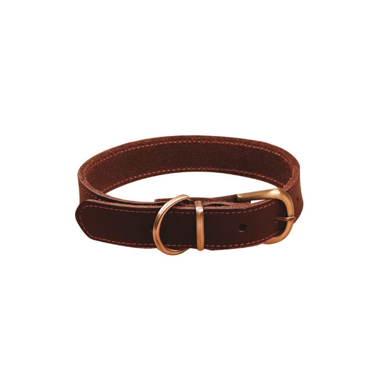Ark brown M Ark brown M Tongboshi Pet Collar, Dog Collar, Collar, Leather Collar, Leather Jinmaotaidi Small Dog Medium Large Dog Supplies, Dark Brown, The Collar is Beautiful in Design and Unique in co