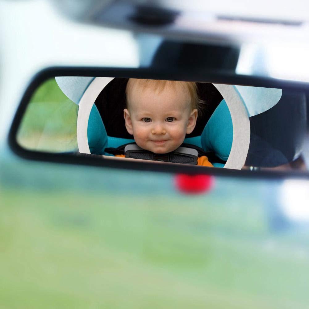 bruchsicherer R/ücksitzspiegel f/ür Babys Niedliche gepolsterte Kaninchen-Pl/üschtiere mit Spiegel Baby-Auto-Kaninchen-Spiegel