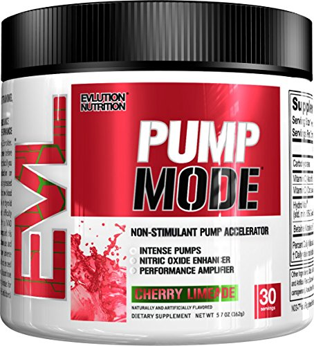 Pump Muscle Amplifier (Evlution Nutrition Pump Mode Nitric Oxide Booster to Support Intense Pumps, Performance and Vascularity, 30 Serving (Cherry Limeade))