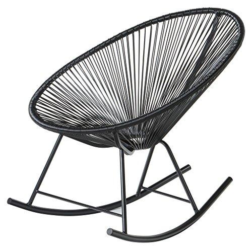 PoliVaz PV-MR-BK Mayan Hammock Acapulco Rocking Chair, Black