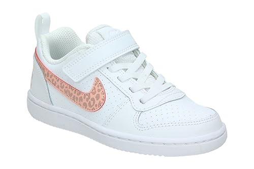 331d9f866 Nike Court Borough PSV Scarpe Sportive Bambina Bianche 870028101 (28 EU,  Bianco)