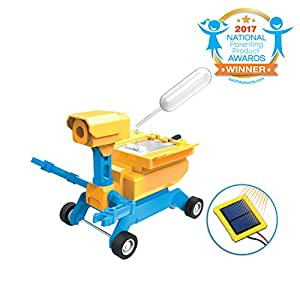 Tenergy Odev Geo STEM Toy DIY 2-in-1 Salt Water/Solar Powered Robot Car Kit for Kids Age 8+