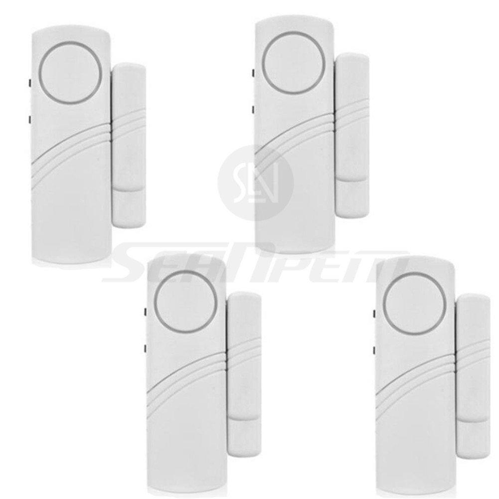 Mini Tür und Fensteralarm im 4-er Pack drahtlos Türalarm Tür-Sensor haus alarmanlage sicherheit für haus - Price xes