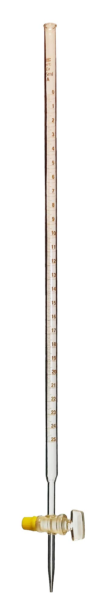 Burette with Ground Glass Stopcock, 25ml, Pack of 5 by GSC