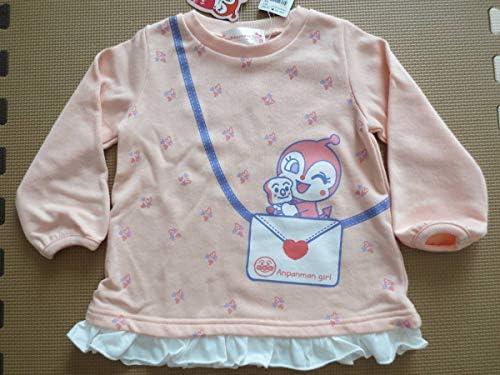 95 ドキンちゃん 裾フリル 長袖トレーナー ピンク 冬物 春物 保育園 幼稚園 入園準備 子供 女の子 アンパンマンミュージアム