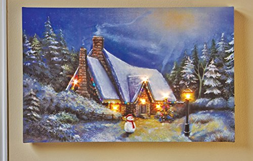 Decorative Led Lighted Snow Cottage Christmas Village