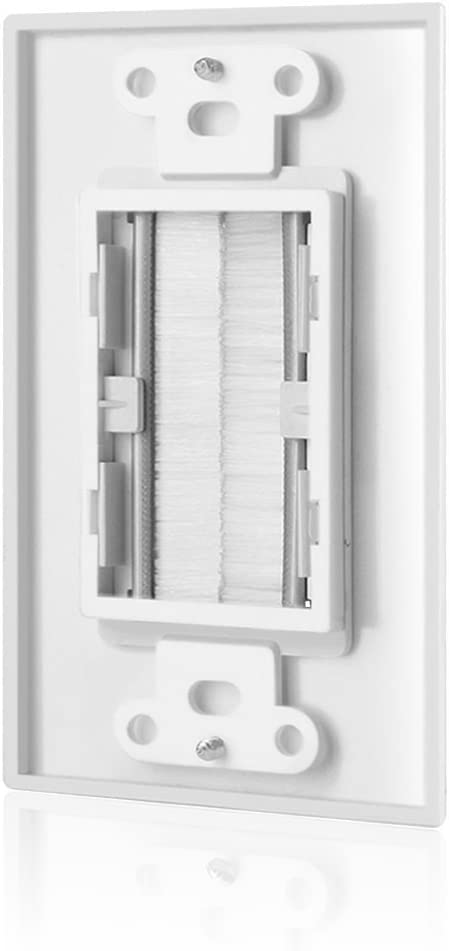 Audio Video Universal Wall Plate Single Brush