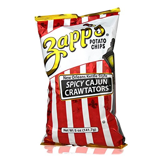 (Zapp's New Orleans Kettle Style Potato Chips 5oz Bags (Pack of 4) (Spicy Cajun Crawtators))
