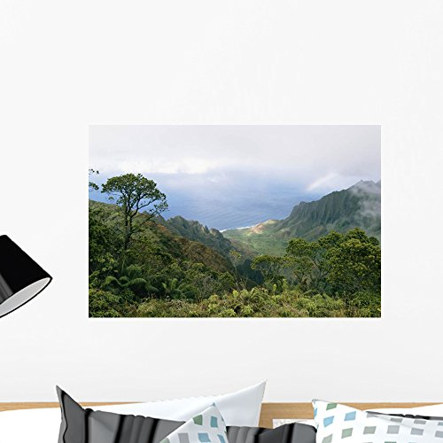 (Kalalau Trail Wall Mural by Wallmonkeys Peel and Stick Graphic (24 in W x 16 in H) WM357403)