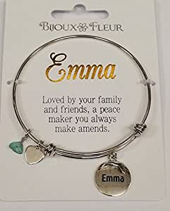 Emma nombre de encanto brazalete/Pulsera presenta Effectz de ley Beautifully