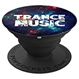 Trance music - EDM Music Festival Rave Space Galaxy Nebula - PopSockets Grip and Stand for Phones and Tablets