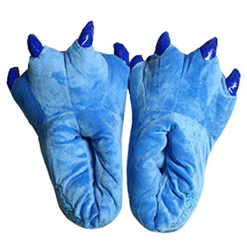 Unisexe Hiver Dessin Peluche Patte animé Doux Chaussons CuteOn Bleu Cosplay Griffe Animal Chaussures Costume ZdHqwfpnB