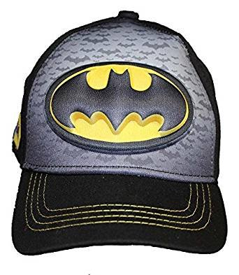 Batman-Logo Boys Flat Bill Snap Back Baseball Hat, Youth