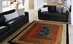 Home Dynamix Royalty – Quality Geometric Contemporary Modern Area Rug 5'2 x 7'2, Multi-colored