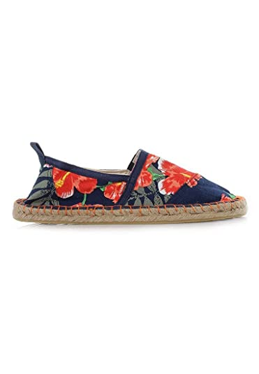 Clothes, Shoes & Accessories Superdry Espadrilles Navy Hibicus Sandals & Beach Shoes
